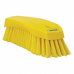 HAND SCRUB BRUSH,STIFF,YELLOW