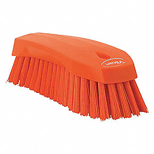 HAND SCRUB BRUSH,STIFF,ORANGE