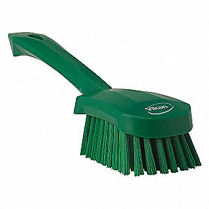 SHORT-HANDLED HAND BRUSH SOFT GRN