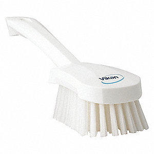 SHORT-HANDLED HAND BRUSH STIFF WHT