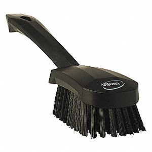 SHORT-HANDLED HAND BRUSH STIFF BLK