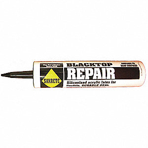 "Black Blacktop Crack Filler, 10.3 oz. Cartridge, Coverage: 25 ft. @ 1/4"" x 1/4"""