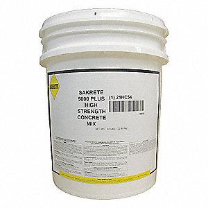 Pail High Strength Concrete Mix Gray 0 38 Cu Ft
