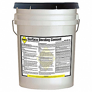 Gray Surface Bonding Cement, 50 lb. Size, Coverage: 35 to 40 sq. ft.