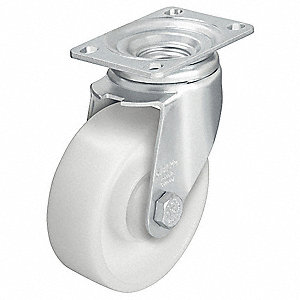 "4"" Light-Medium Duty Swivel Plate Caster, 400 lb. Load Rating"