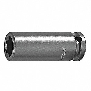 IMPACT SOCKET, 1/4IN DR, 7/16IN 6PT