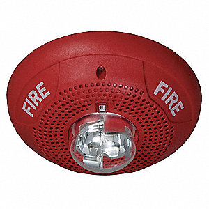 System Sensor Speaker Strobe Ceiling Std Candela Red