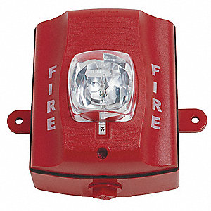 Outdoor Strobe,Wall,Standard Candela,Red