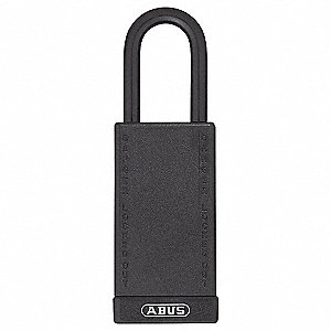 SFTY PADLOCK,1 1/2 SHACKLE,3IN BODY