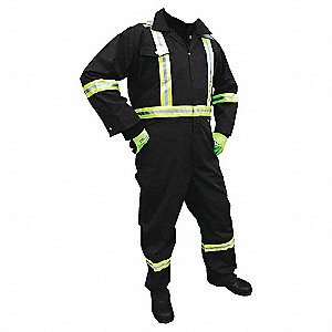 VIKING COVERALL BLK HVZ STRPNG 4XL