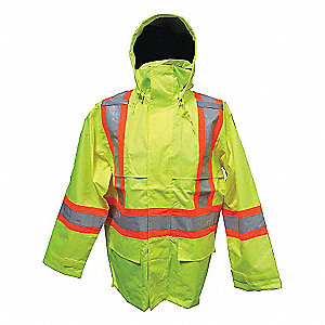 OPEN ROAD HIVIS 150D JACKET GRN 3XL