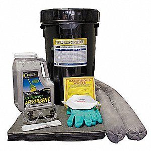 "Universal / Maintenance Spill Kit, 13""H x 13""W x 20""L Bucket"