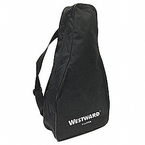 Carrying Case for Measuring Wheels, Polyester, Backpack Style, Hand Carry Handle, Black