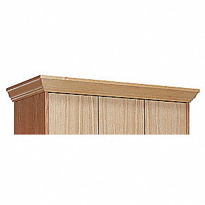 3WIDE CROWN MOLDING FOR WOOD LOCKER