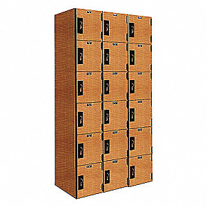 PHENOLIC LOCKER 6TIER 3WIDE