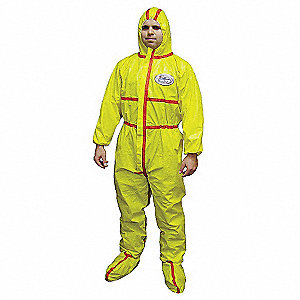 COVERALL W/HOOD AND BOOT XL