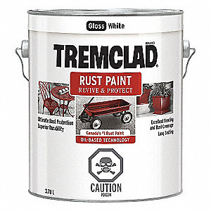 PAINT TREMCLAD GLOSS WHITE 1 GAL