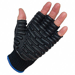 Anti-Vibration Gloves, Half, XL,PR