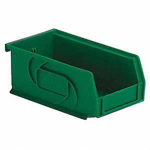 PART BIN,3HX4-1/8WX7-3/8D,GREEN