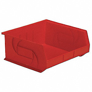 Hang/Stack Bin,7Hx16-1/2Wx14-3/4D,Red
