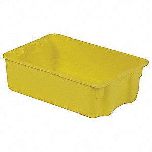 STACK AND NEST CONTAINER,20X13X6,YE