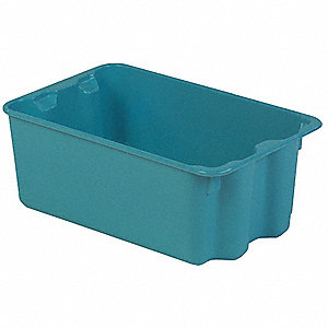 Stack and Nest Bin,20-5/8 In L,Blue