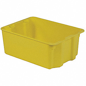 STACK AND NEST CONTAINER,25X18X10,Y