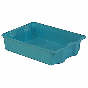 STACK AND NEST CONTAINER,25X18X6,BL