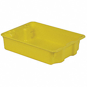 STACK AND NEST CONTAINER,25X18X6,YE