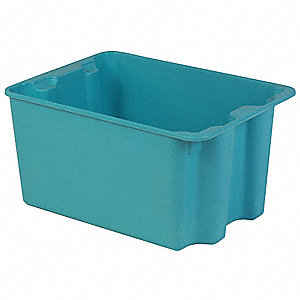 Stack and Nest Bin,27-1/2 In L,Blue