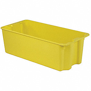 "Stack and Nest Container, Yellow, 14-1/8""H x 42-1/2""L x 20-1/8""W, 1EA"