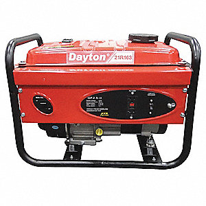 Portable Generator, 120VAC Voltage, 2500 Rated Watts, 3800 Surge Watts, 20.8/NA Amps @ 120/240V