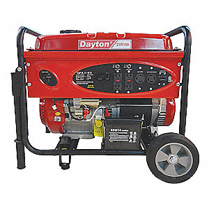 Portable Generator, 120/240VAC Voltage, 5000 Rated Watts, 8000 Surge Watts, 41.7/20.8 Amps @ 120/240