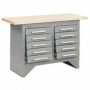 "Work Station, 54"" Width, 20"" Depth  Butcher Block Maple Work Surface Material"