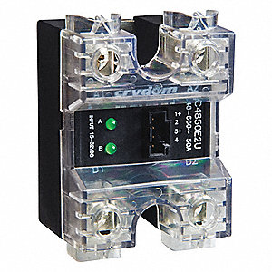 2-Pole Surface Mount Dual Solid State Relay; Max. Output Amps w/Heat Sink: 50