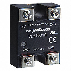 Solid State Relay,3 to 32VDC,10A