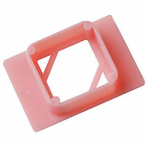 "1.61"" x 1.1"" x 0.43"" ABS Disposable Embedding O Rings, Pink"