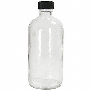 Narrow Mouth Boston Round Bottle, Sampling, Glass, 60mL, Clear, 24 PK
