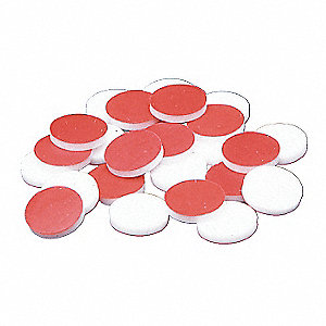 PTFE Narrow-Mouth Closure, Red, 1000 PK