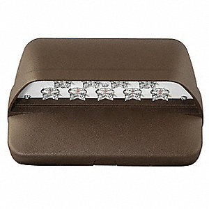 "8-1/4"" x 5"" x 5-1/4"" 22 Watt LED Wall Pack, Bronze"