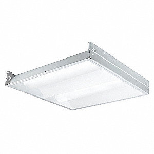 LED Recessed Troffer, LED Replacement For 2 Lamp LFL, 3500K, Lumens 3800, Rated Life 50,000 hr.