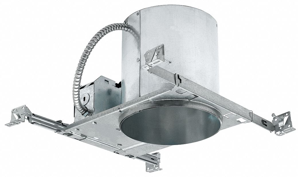 6 in LED Recessed Down Light Housing for New Construction, IC, Non-IC Rated, 12.0 Max. Wattage