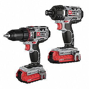 Cordless Combination Kit, Voltage 20.0 Li-Ion, Number of Tools 2