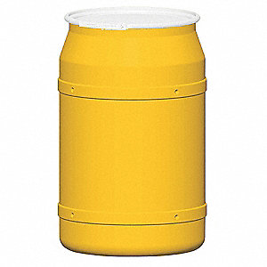 57.5 gal. Yellow Polyethylene Open Head Transport Drum