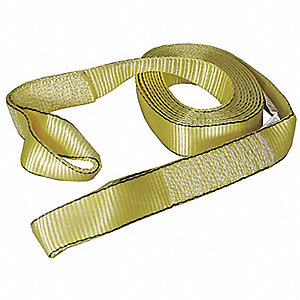 Tow Strap,w/Lopps,2 In x 20 Ft.,Yellow