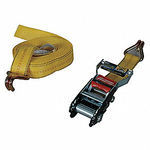 Tie-Down Strap,Ratchet,27ft x 2In,3330lb