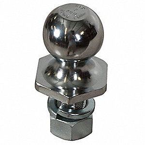 Trailer Hitch Ball, 1 In Shank Dia.