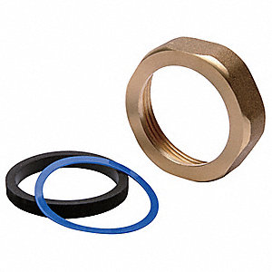 Toilet Spud,1-1/4 In,Brass/EPDM Rubber