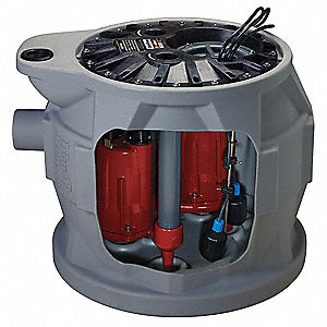 1 HP Grinder Pump System, CSCR Motor, 50 ft.Max. Head, SIC Shaft Seal