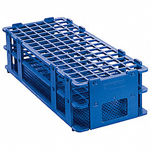 Test Tube Rack,No-Wire,13mm,Blue